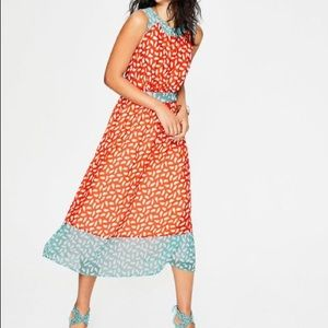 NWT Boden Sylvie Brush Stroke Midi Dress
